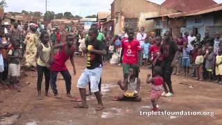 Ghetto Kids (triplets) dancing - follow me follow me