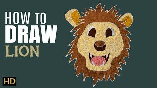 How To Draw Lion   Easy Step By Step Drawing Tutorial For Children   Shemaroo Kids
