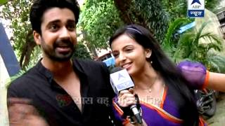 Who throws bamboos on Shlok and Astha?