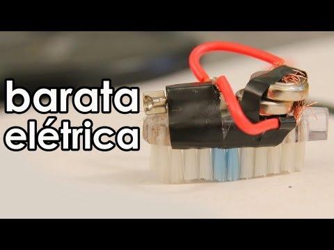 Barata elétrica mini robô caseiro experiência