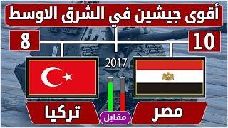 مقارنة الجيش المصري مقابل الجيش التركي-أقوى جيشين في الشرق الاوسط 2017- مقارنة مصر وتركيا