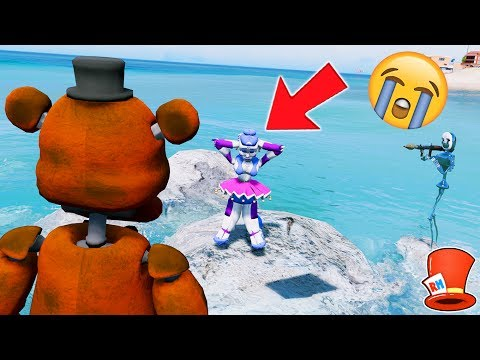CAN WITHERED FREDDY SAVE BALLORA FROM NIGHTMARE PUPPET MASTER? (GTA 5 Mods For Kids FNAF RedHatter)