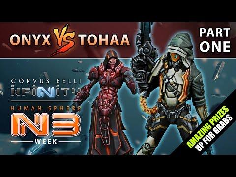 Infinity: Human Sphere N3 Week - Battle Report Part One (Onyx Contact Force Vs Tohaa)