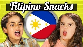 KIDS EAT FILIPINO SNACKS! | Kids Vs. Food