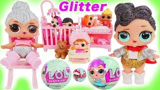 Don't Wake Shimmer and Shine LOL Surprise Dolls Bedtime Routine Prank Glitter Queen Water Park Luxe!