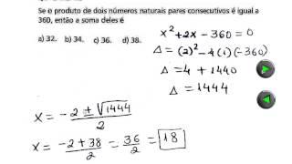 CEFET MG 2013 Resolução da Prova de Matemática Parte 3