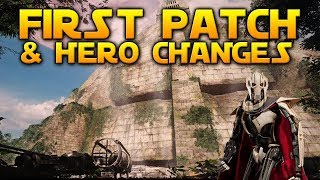 FIRST PATCH LIVE & HERO CHANGES - Star Wars Battlefront 2
