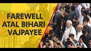 Vajpayee Amar Rahen: Procession inches closer to Smriti Sthal; lakhs bid adieu to former PM