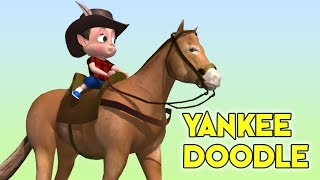 Yankee Doodle nursery rhyme for kids   3d Animation l Yankee Doodle 3D song with lyrics