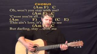 Stay With Me (Sam Smith) Strum Guitar Cover Lesson with Chords/Lyrics