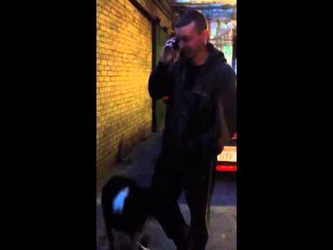 One horny dog shags Ste wards leg dirty sex sick dog