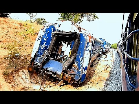 Train ACCIDENT Site : Indian Railways Ernakulam Express Derailment