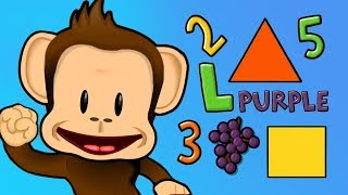 Kids Learn Colors, Numbers, Shapes & Puzzles With Cute Monkey Preschool App For Kids