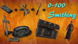 Skyrim How To Get Level 100 Smithing The QUICKEST WAY!!!