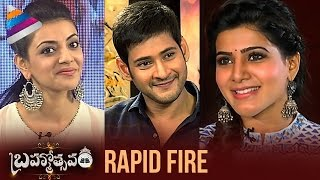 Brahmotsavam Movie | Samantha Rapid Fire with Mahesh Babu and Kajal Aggarwal | Srikanth Addala