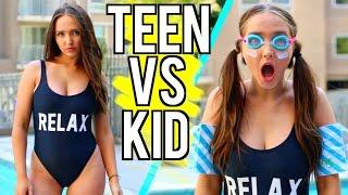 Teen VS Child You Summer Break | Kenzie Elizabeth
