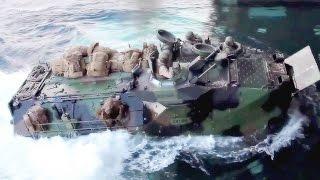 U.S. Marines Assault Amphibious Vehicle - Well Deck Landing