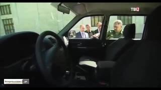 سقوط مقبض باب سيارة روسية الصنع أمام بوتين