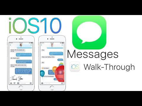 iOS 10 New Messages App Full Walk Through