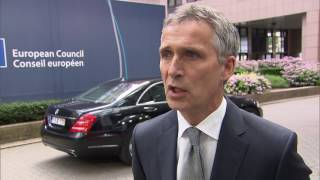 NATO Secretary General's doorstep at European Council, 28 JUN 2016
