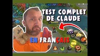 Test complet FR de Claude futur adc sur Mobile Legends Bang Bang
