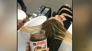 حقيقة انتشار فيديو لصبغة الشعر بالنوتيلا الذي حظي بآلاف المشاهدات