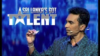 Magic act by Sumangala Silva  | Sri Lanka's Got Talent | SLGT