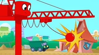 Wrecking ball Morphle! My Magic Pet Morphle Construction video for kids