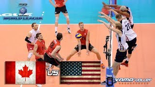 ALL BREAKS REMOVED - Canada vs USA - FIVB World League 2017 Pool Play