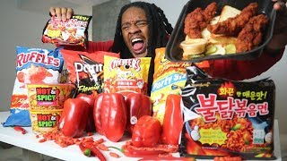 I Only Ate SPICY FOOD For 24 HOURS!! (never again)