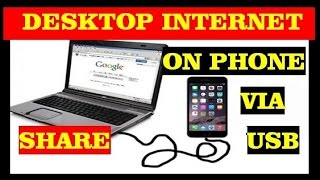 how to share internet connection from pc to mobile phone via usb cable