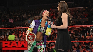 Bayley addresses Charlotte Flair's demands: Raw, Feb. 20, 2017