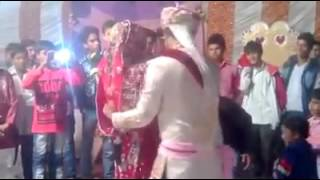 Crazy dance in marriage by funny groom and bride