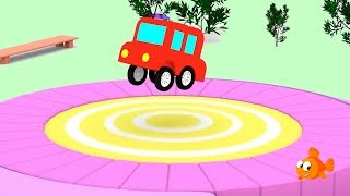 Cartoon Cars - CEMENT SCHOOL! - Cartoons for Children - Children