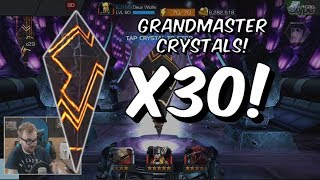 30x Grandmaster Crystal Opening FT Deus Wolfe - Marvel Contest Of Champions