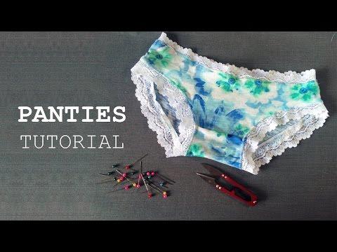 DIY Sewing Panties Tutorial Tự may quần lót