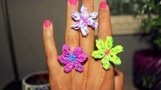عمل أساور المطاط: كيف تصنعين خاتم على شكل وردة من المطاط :DIY