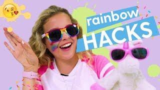DIY Rainbow School Supplies! Hack Along: Highlighter, Slime Book, Pencil Clutch | DIY LIFE HACK GIRL