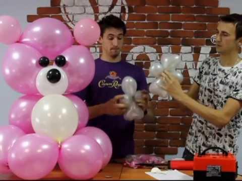 Видео украшение из воздушных шаров своими руками