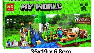 Unboxing Lego Knockoff Minecraft - The Farm