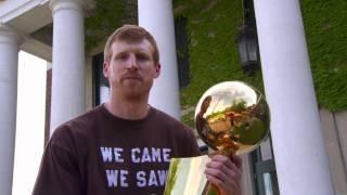 Spurs Championship Trophy Tour:  Matt Bonner in New Hampshire