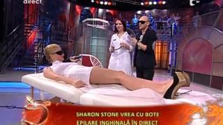 Sharon Stone de Romania- Ana Vaida - se epileaza in direct inghinal
