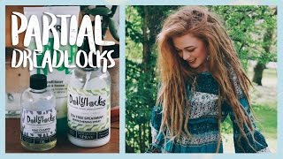 Partial Dreadlocks | How to Keep Loose Hair and Dreads Separated and Moisturized