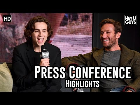 Call Me By Your Name Press Conference Highlights Armie Hammer Timothée Chalamet TIFF17