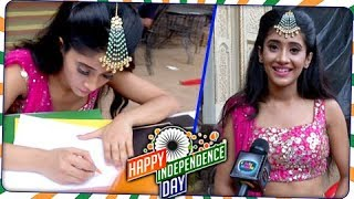 SHIVANGI JOSHI aka Naira Celebrates Independence Day With Tellymasala |  Independence Day Special