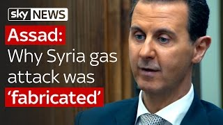 Assad says Syria chemical attack was fabricated