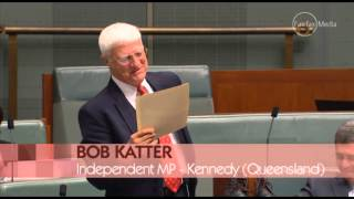 Speaker Bishop too fast on the draw for Bob Katter preventing prop of Rossi Boots