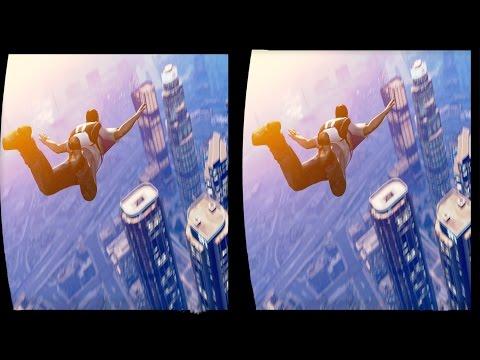 Xxx Mp4 3D GTA V FREE PARACHUTE JUMP COLLECTION VR Videos 3D SBS Google Cardboard VR Virtual Reality VR Box 3gp Sex