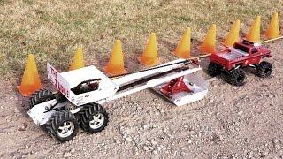 RC ADVENTURES - Dual Motor vs Single - BEAST CHEVY vs JEEP vs The Judge SLED PULL - AXiAL SCX10