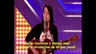 X Factor - Lucy Spraggan - Last Night (Spanish subtitles)